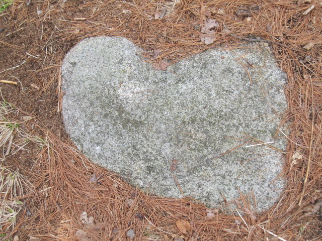 Lopsided heart rock