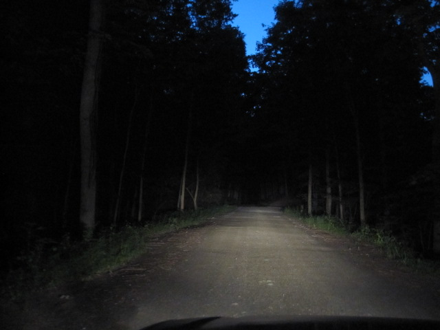 Dark dirt road